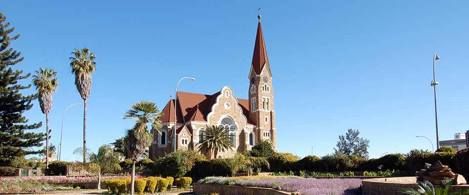 View of a church. Namibia, Africa