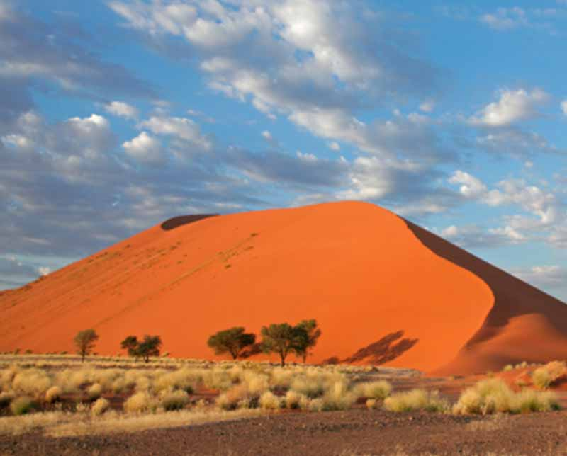 A large sand dune. Namibia, Africa
