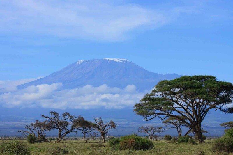 Mountain on the horizon. Tanzania, Africa