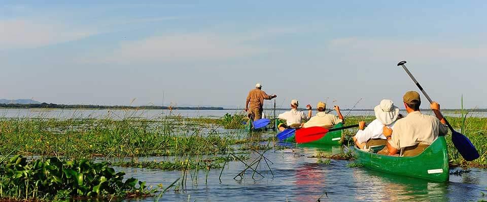 Canoeing. Zimbabwe, Africa