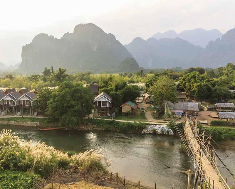 Town. Cambodia, Asia