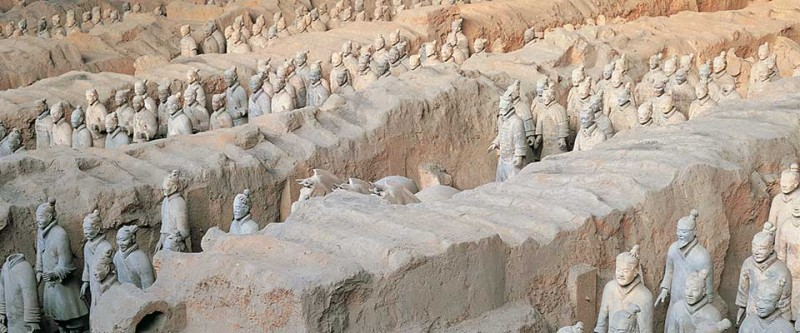 Terracotta. China, Asia.