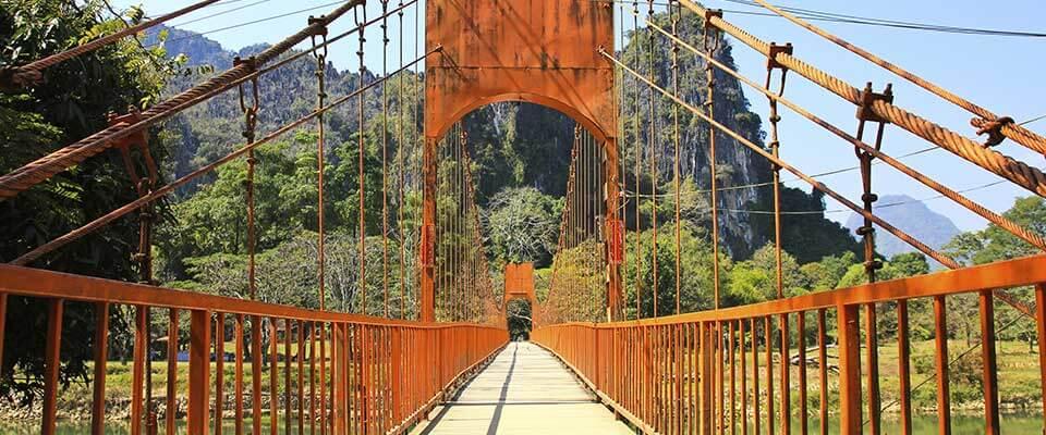 Bridge. Laos, Asia.