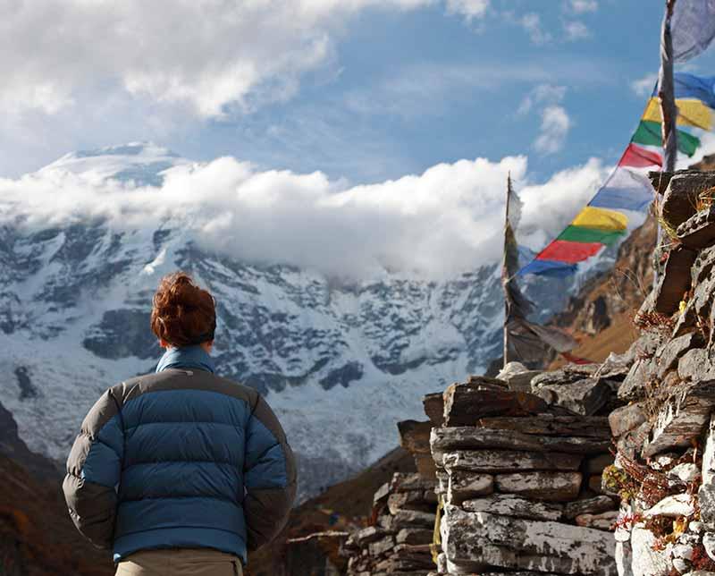 Annapurna Sanctuary. Nepal, Asia.