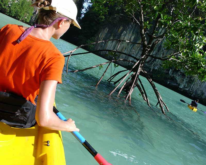Hike, bike and Kayak. Thailand, Asia.