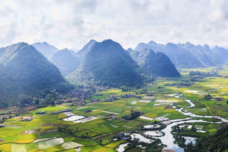 Birds eye view. Vietnam, Asia.