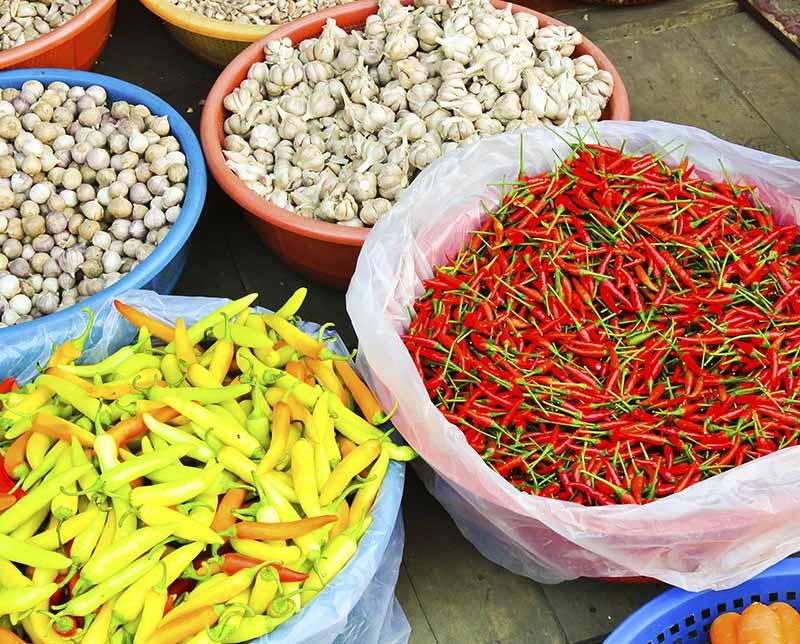 Food market. Vietnam, Asia.