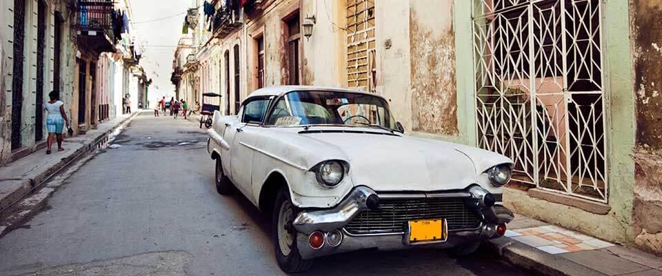 Car in the street. Cuba, Caribbean.