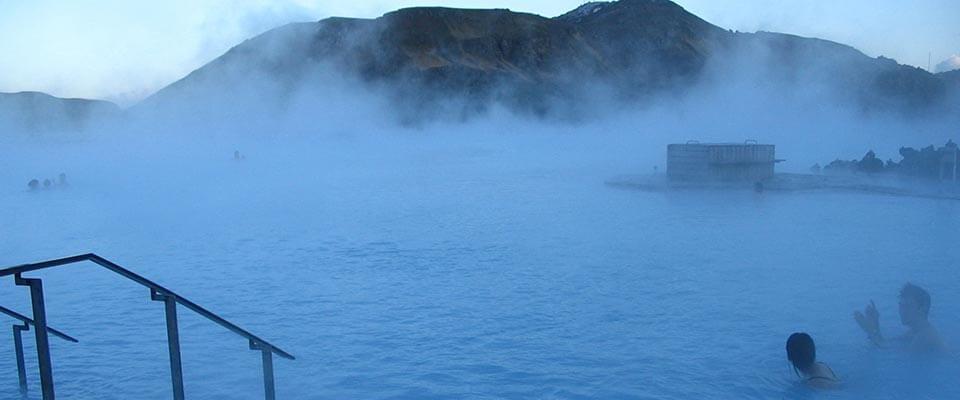 Foggy swim. Iceland.