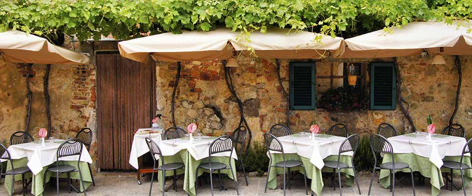 Restaurant. Italy.