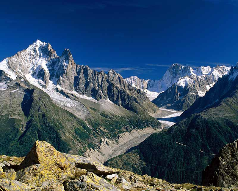 Rocky mountains at Mont Blanc. Italy.