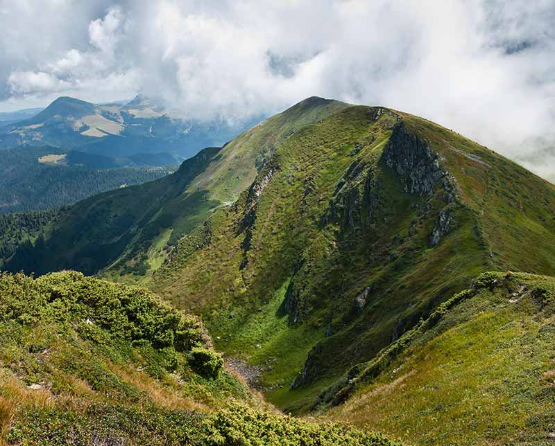 Trekking in Transylvania. Romania.