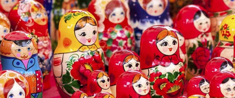 Matryoshka dolls. Russia.