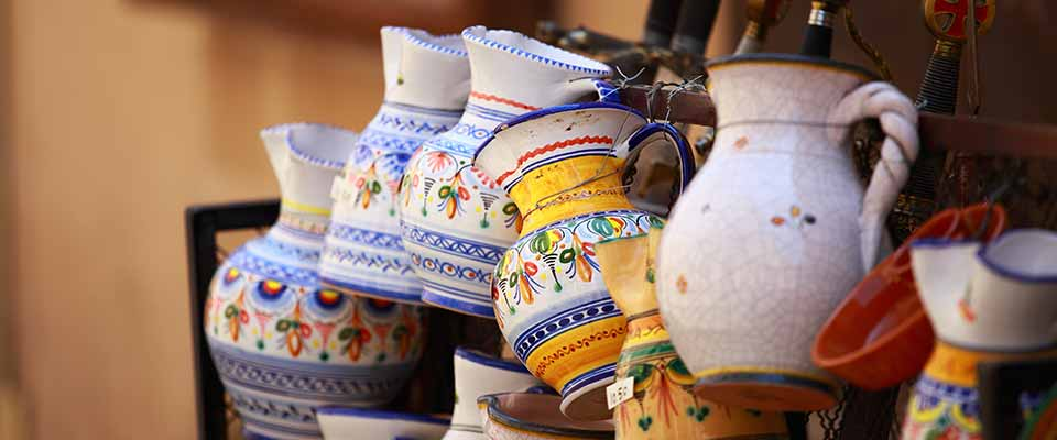 Hand-crafted cups. Spain.