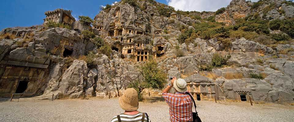 Homes built from rock. Turkey.