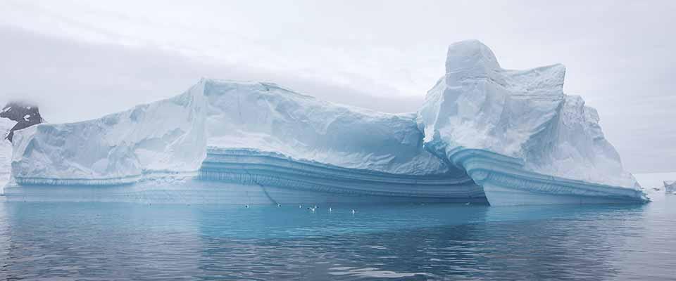 Polar ice. Antarctica.