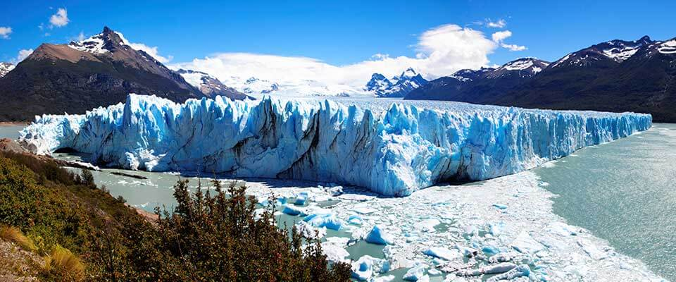Ice glaciers. Argentina and Chile.