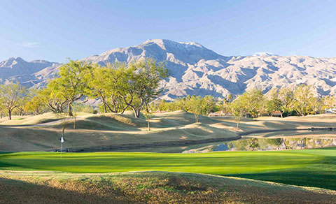 Golf course with mountains. California, USA.