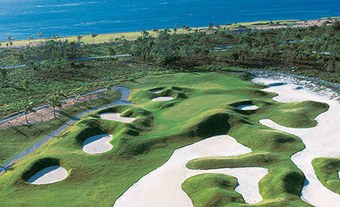 Golf course from above. Dominican Republic.