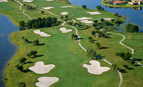 Golf course from above. Florida, USA.