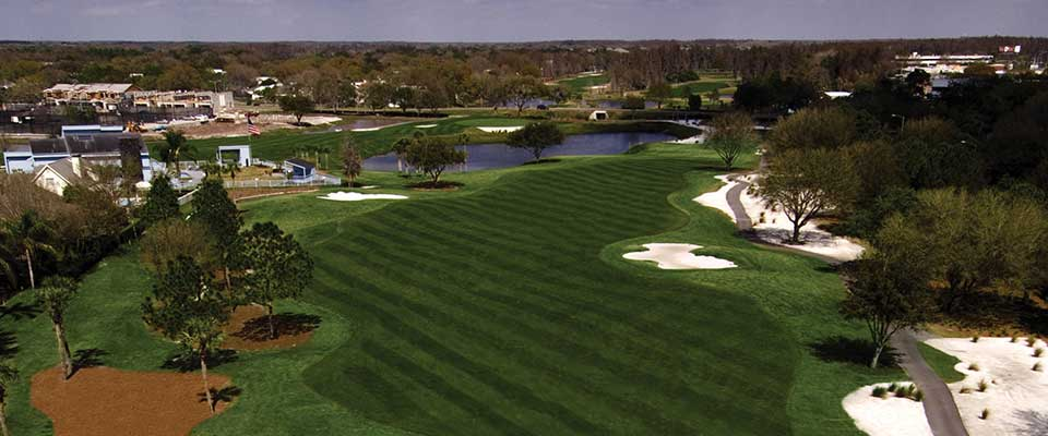 Golf course. Tampa Emerald Greens Resort, Florida.