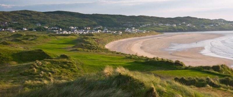 Sandy coast. North and West Coast, Ireland.