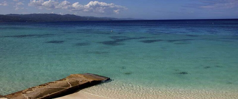 Crystal-clear water. Jamaica.