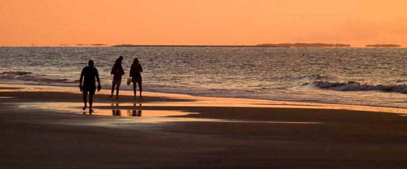 On the beach at sunset. Hilton Head, South Carolina.