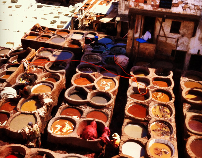 Morocco clay containers.