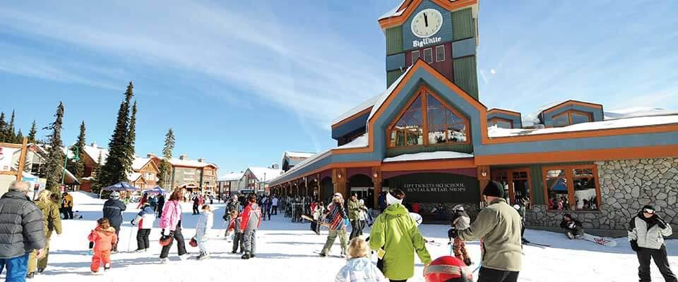 Ski chalet. Big White, BC.