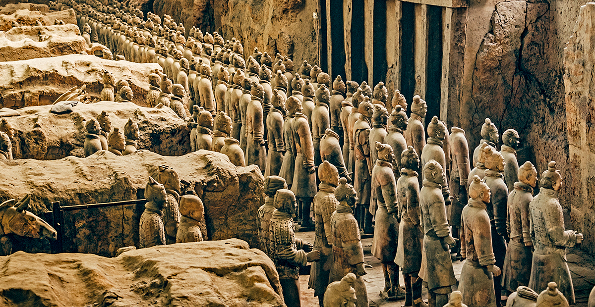 The Army of Terracotta Warrior in Xian, China