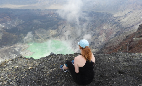 Reaching the summit of Santa Ana Volcano, El Salvador's highest - Cerro Verde National Park