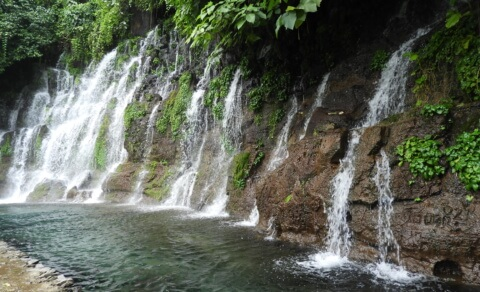 Some of the waterfalls at Chorros de la Calera, Juayúa