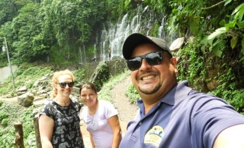 Me and my guide - Chorros de la Calera, Juayúa