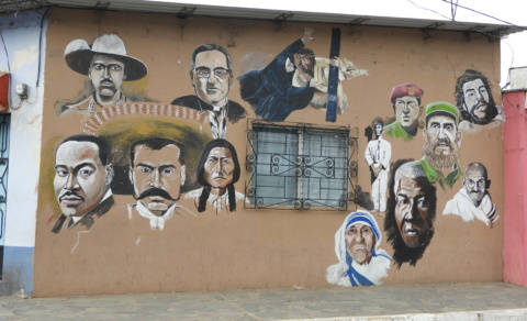 Mural of the world's main socialists - Concepcion de Ataco