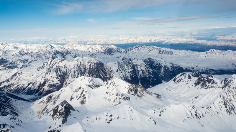 Glacier Ice Fields in Talkeetna, Alaska