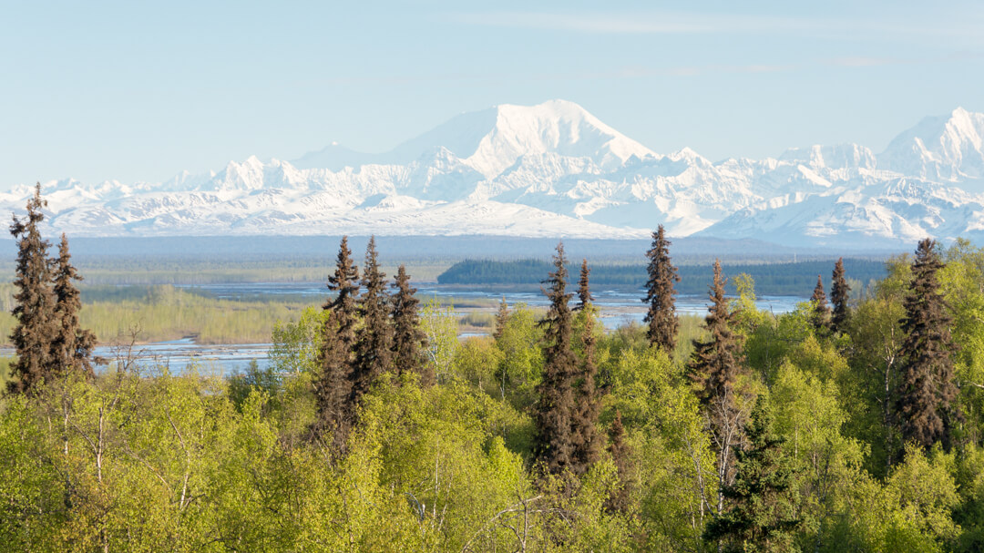 Mount McKinley vista as seen from the Talkeetna Alaskan Lodge