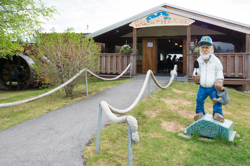 Warming House at the Salmon Bake in Fairbanks, Alaska