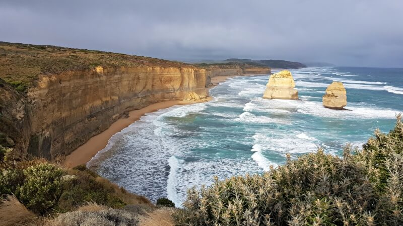 The Twelve Apostles, along the Great Ocean Road in Victoria.