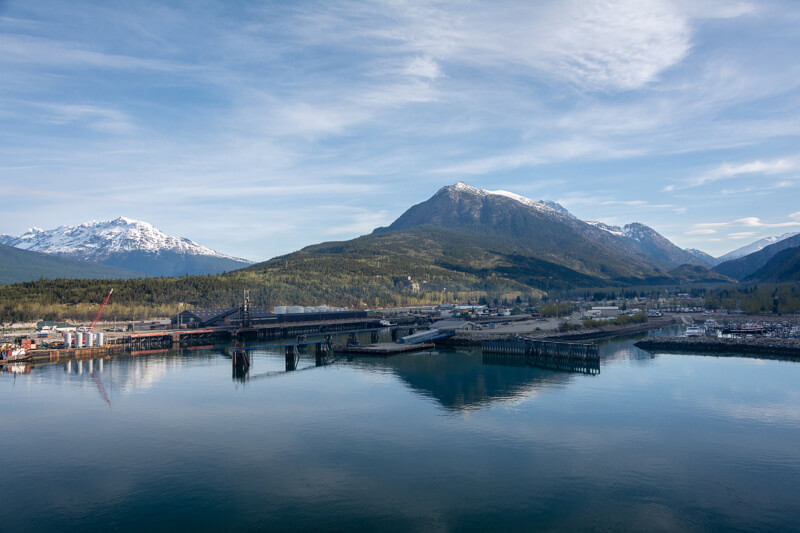 The port in Skagway