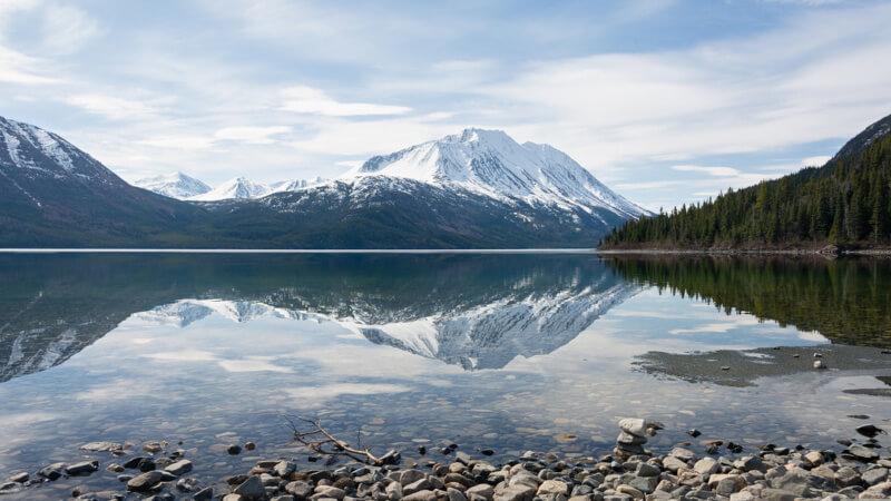 Mountain Vista at Lake Tagish, Yukon