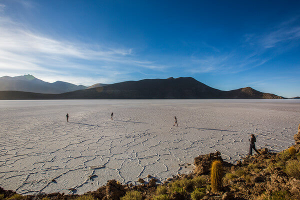 Bolivia Uyuni Salt Flats Sunset Group. Courtesy G Adventures