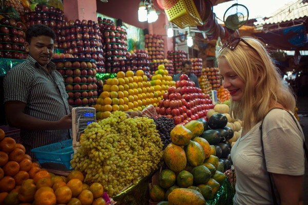 India Mysore Fruit Market. Courtesy G Adventures