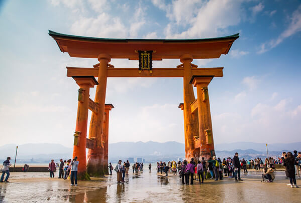 Japan Miyajima Itsukushima Shrine Torri Gate. G Adventures