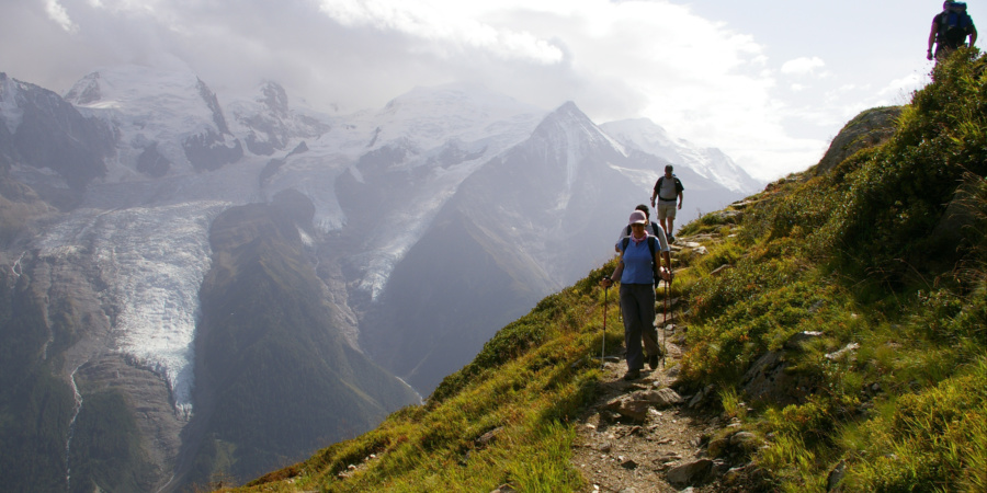 Walkers on Mont Blanc Circuit. Courtesy Exodus Travels