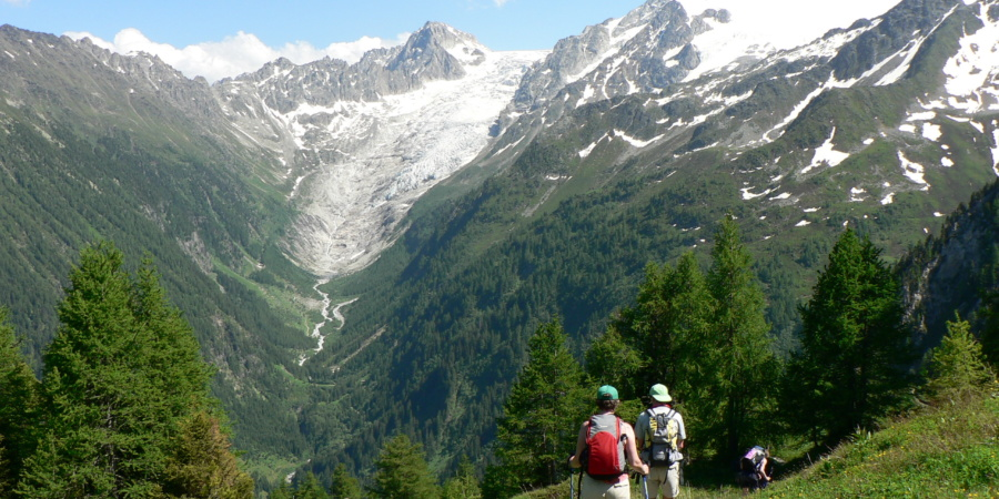 Walking on the trails of the Mont Blanc Circuit. Courtesy Exodus Travels