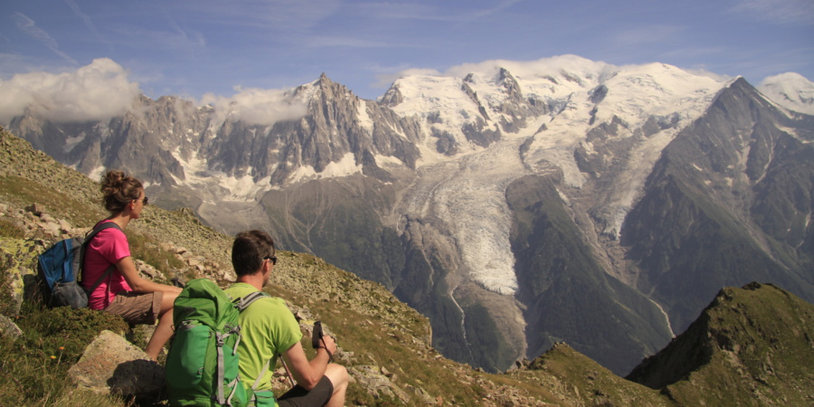 Trekking in Mont Blanc. Courtesy Exodus Travels