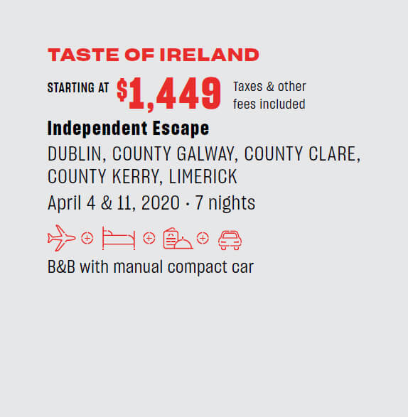 Taste of Ireland - starting $1,449