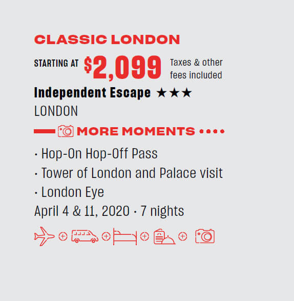 Classic London - starting $2,099