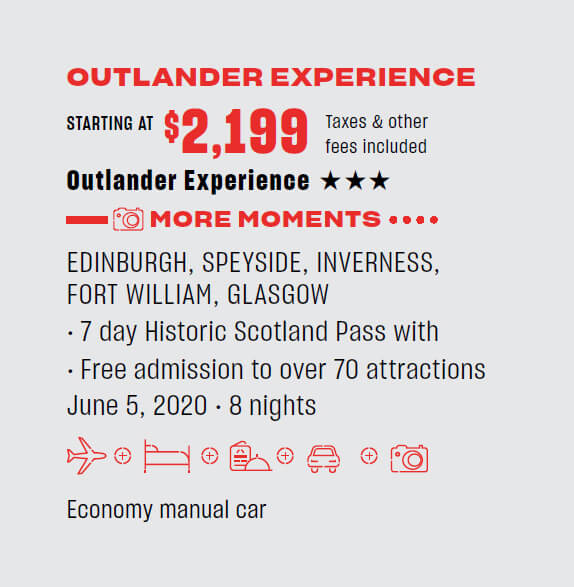 Outlander experience - starting $2,199